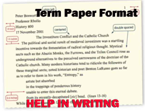 Help in writing term papers
